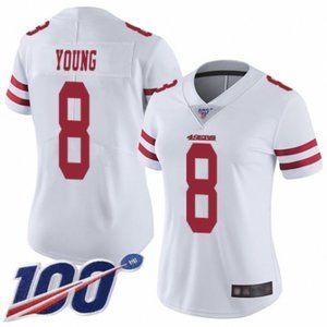 Women 49ers Steve Young 100th Season Jersey (3)